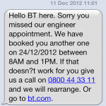 Moving to BT: Not The Best Start...